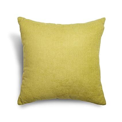 SuenosZzz- COJIN Relleno. Cojines Decoracion, Sofa,Cama, tapizado Acualine Antimanchas Pistacho. Medidas: 48x48. Decoracion CASA.
