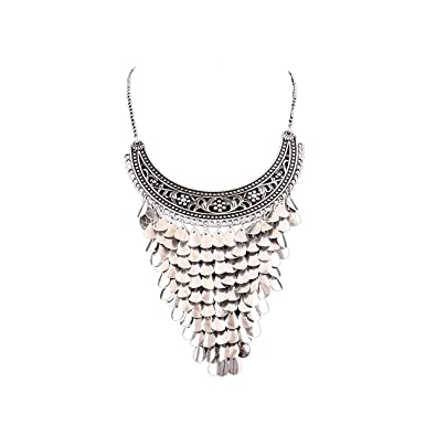 71ad350b9 Buy Aradhya Afghani Tribal Antique Boho Oxidised Silver Necklace for Girls  (Style1) Online at Low Prices in India | Amazon Jewellery Store - Amazon.in