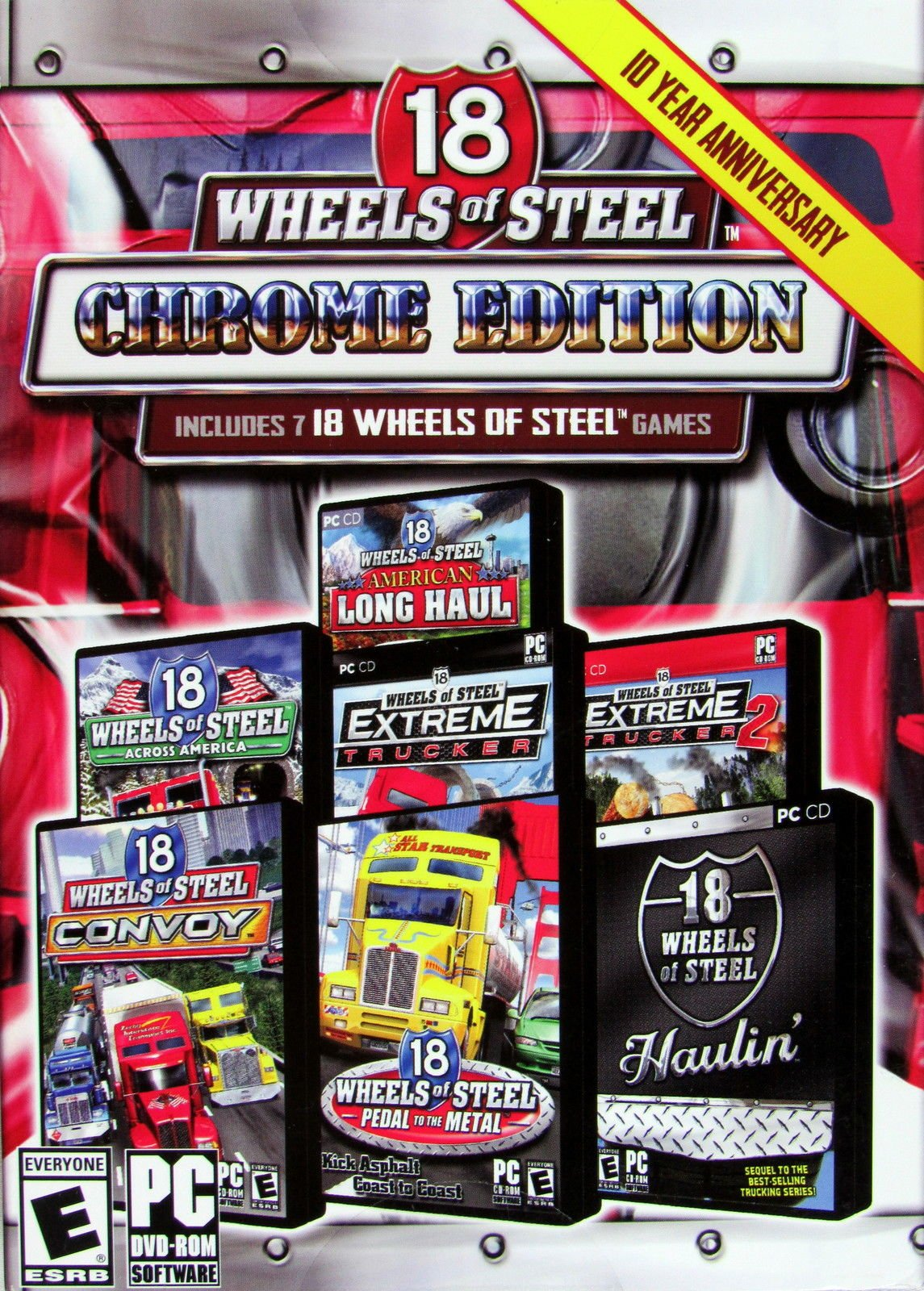 Amazon. Com: 18 wheels of steel chrome edition 10th year.