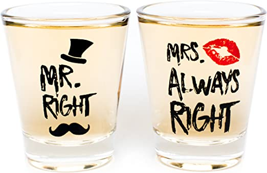 Amazon Com Funny Wedding Gifts Mr Right And Mrs Always Right