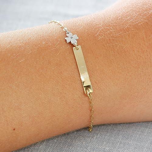 Gold ID bracelet Baby jewelry newborn 14K gold ID bracelet baby