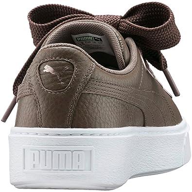 Scarpe donna PUMA Platform v2 LEA in pelle nera 366460 03