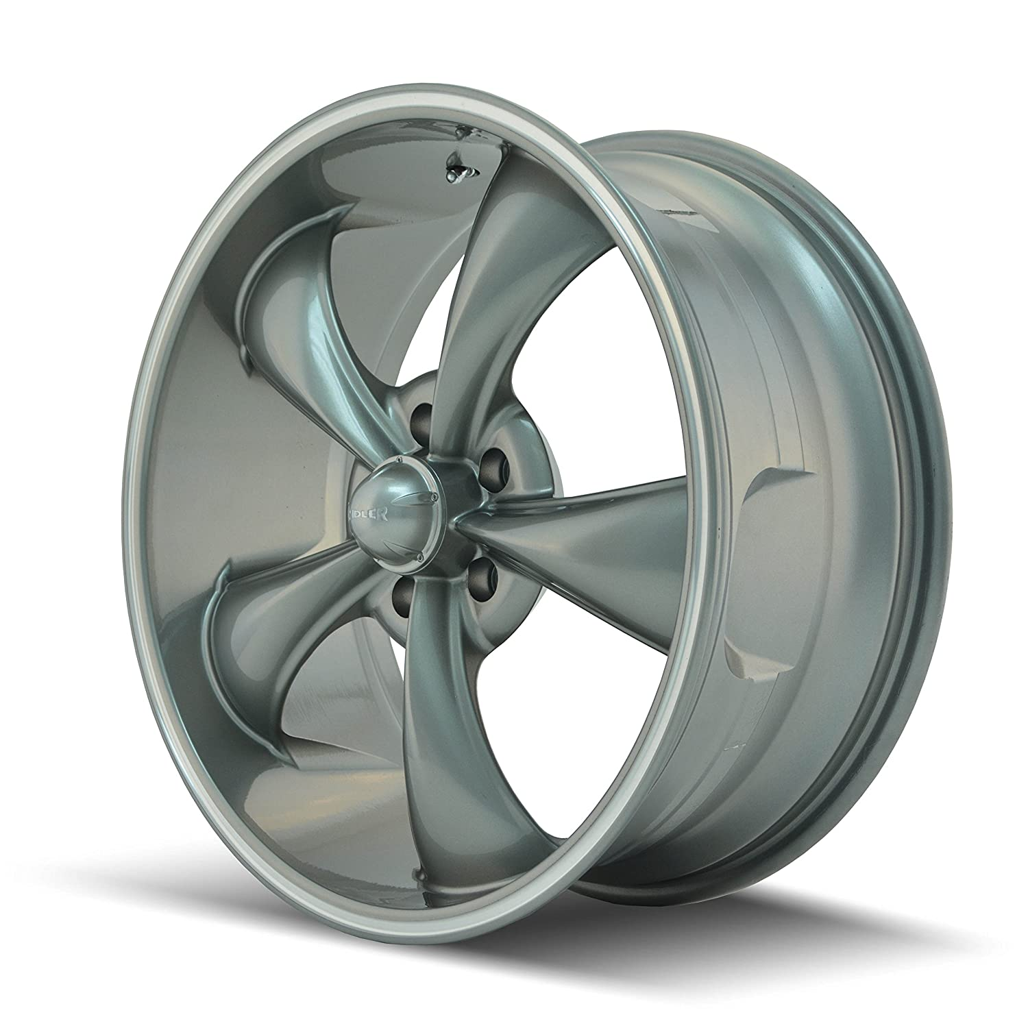 20x10//5x120mm Ridler Style 695 Grey Wheel with Machined Ring