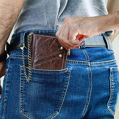 Amazon.com: Contacts RFID - Monedero de piel para hombre ...