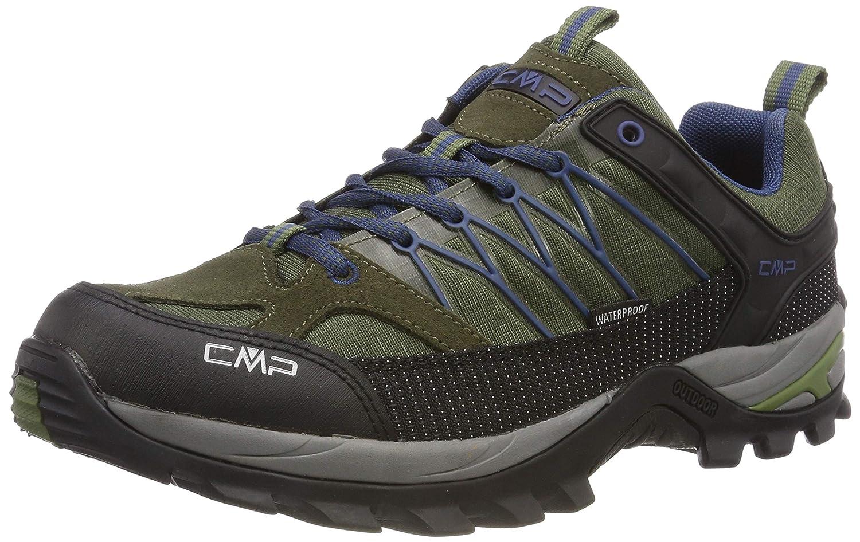 Vert (Olive-marine 08fc) 44 EU CMP Rigel Faible, Chaussures de Randonnée Basses Homme