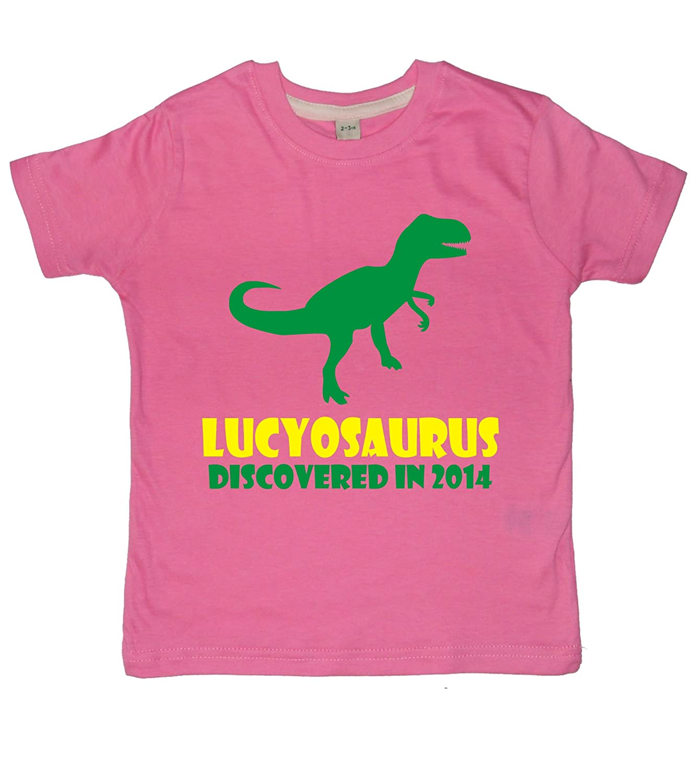 Edward Sinclair Personalised Dinosaur Children/'s 2nd Birthday T-shirt