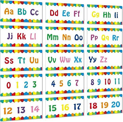 Alphabet Banner Number Banner Alphabet Wall Classroom Decorations ...