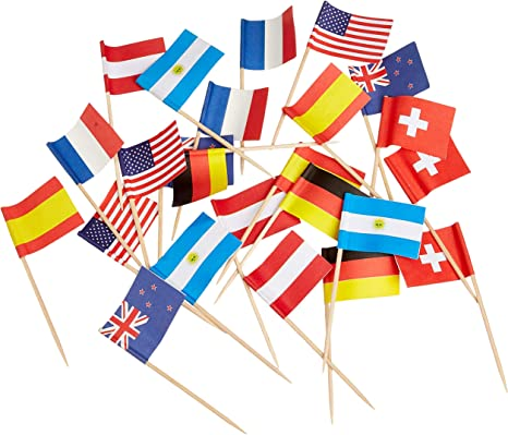 Servietten 33 cm Länder Nationen Fußball Party Flaggen Deutschland Frankreich