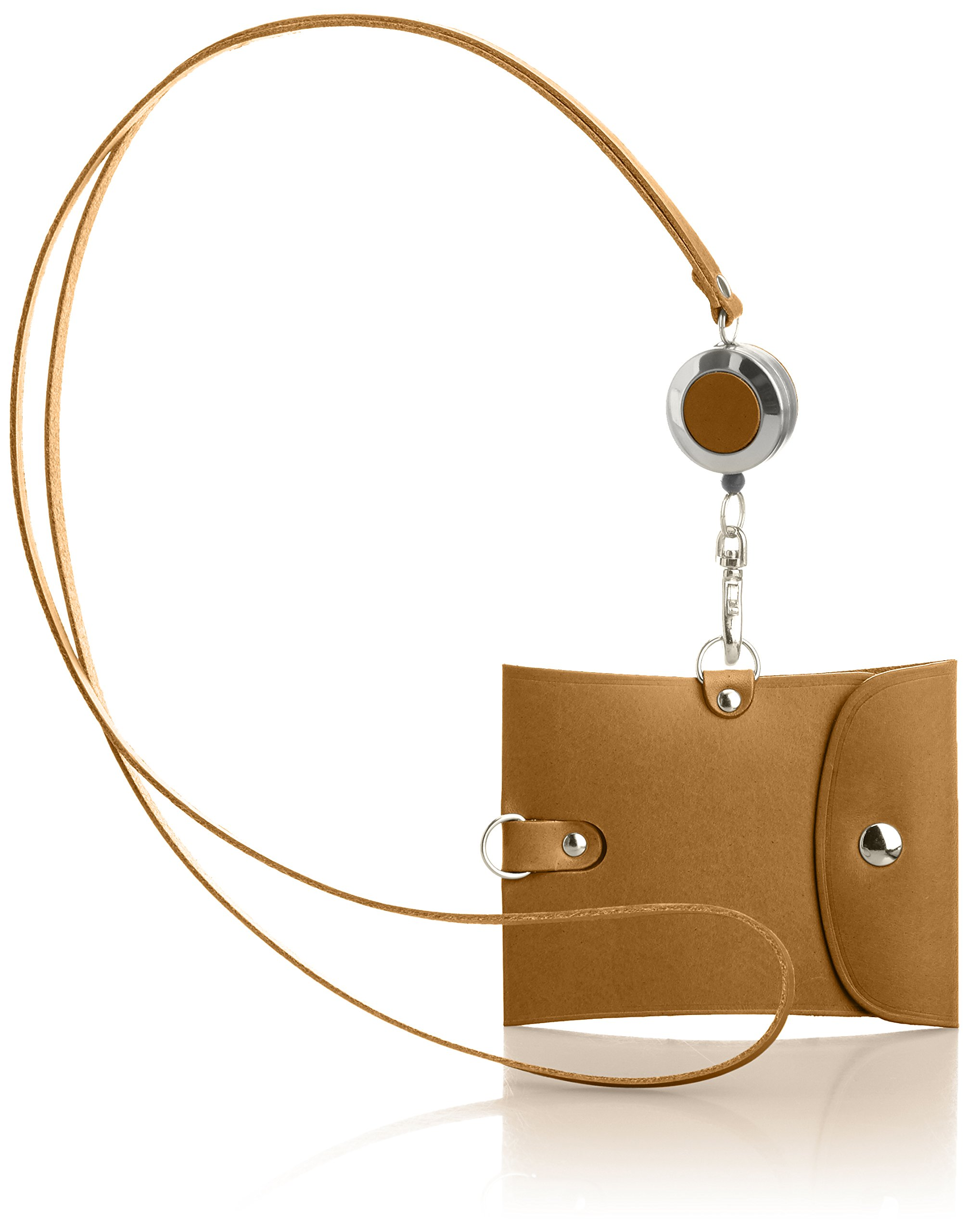 Vintage Revival Productions Pass Holder with reel 59218 Brown