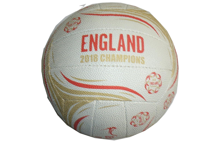 England 2018 Gold Medal Winners Netball - White/Red/Gold Gilbert