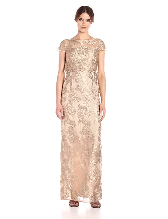 6e8ea7ad0e0 Adrianna Papell Women s Popover Embroidered Dress at Amazon Women s  Clothing store