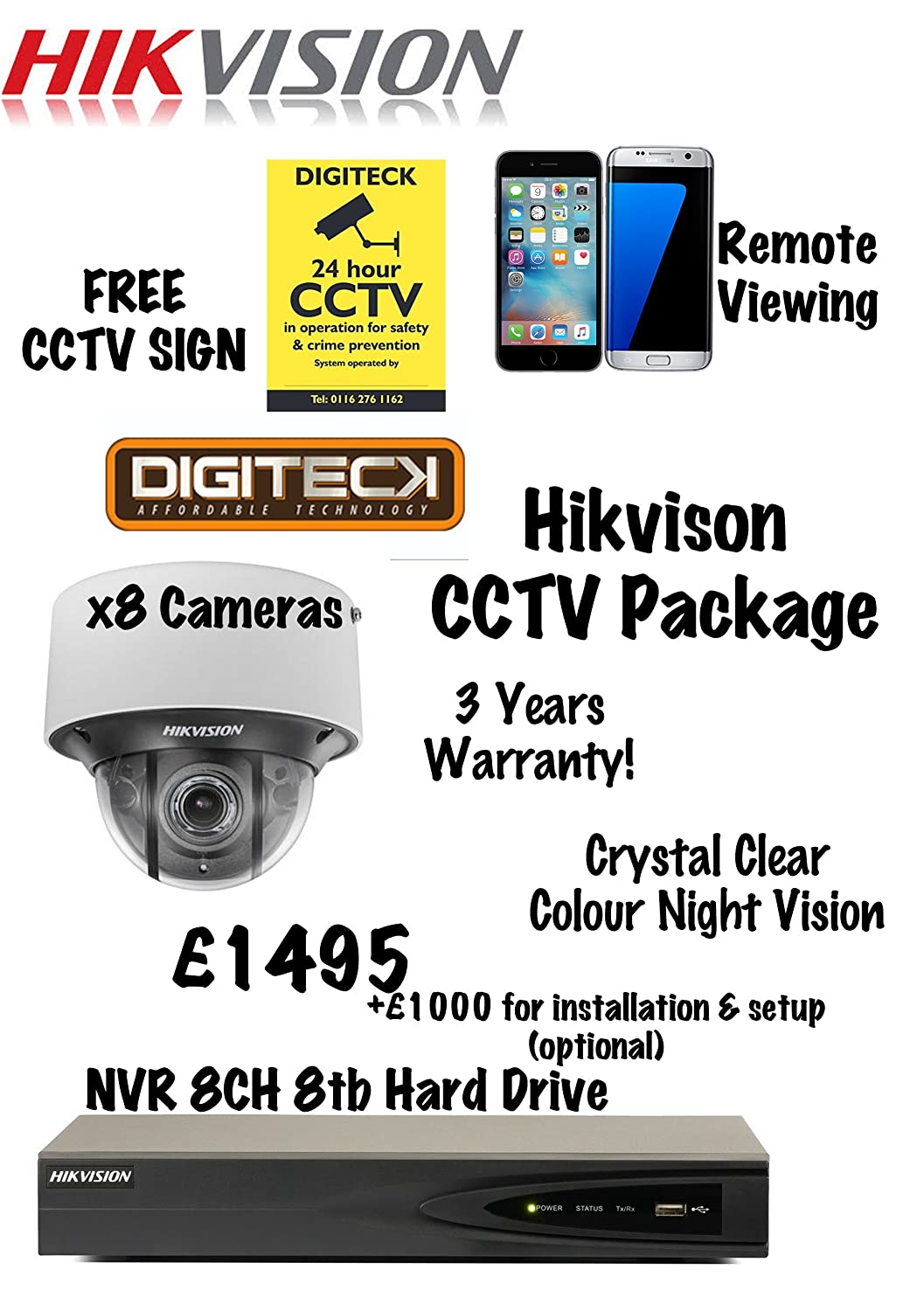 HIKVISION BEST NIGHT VISION IP NETWORK HD CAMERA CCTV: Amazon co uk