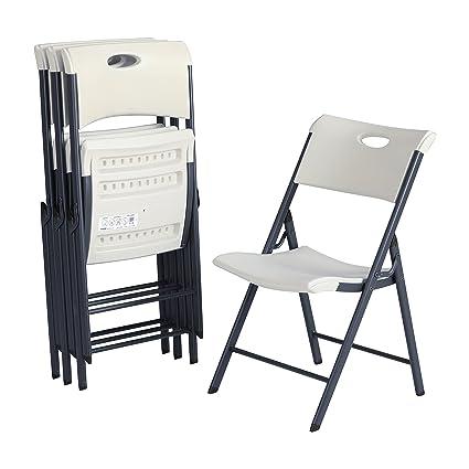 Wondrous Lifetime 80643 Contemporary Commercial Folding Chair 4 Pack White Granite Interior Design Ideas Apansoteloinfo
