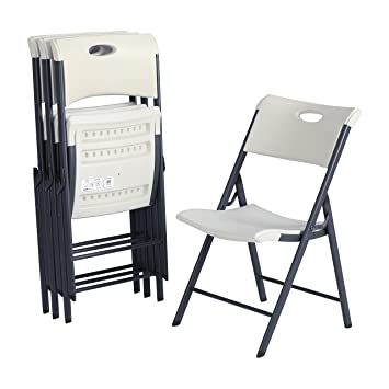 Fabulous Lifetime 80643 Contemporary Commercial Folding Chair 4 Pack White Granite Pdpeps Interior Chair Design Pdpepsorg