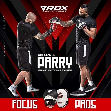RDX MMA Manoplas de Boxeo Paos Muay Thai Kick Boxing Artes Marciales Patada Pad Entrenamiento: Amazon.es: Deportes y aire libre