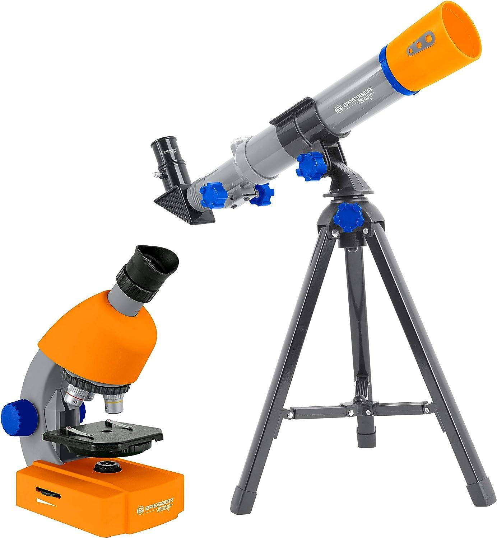 Bresser Junior Microscopio 40x-640x rosso