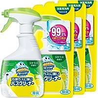 【まとめ買い】 スクラビングバブル 浴室・浴槽洗剤 石鹸カスに強いバスクリーナー シトラスの香り 本体1本+つめかえ用3個セット 400ml+350ml×3個