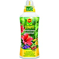 Compo Calidad para Plantas Ornamentales de Interior o terraza, Fertilizante líquido Universal con Extra de magnesio…