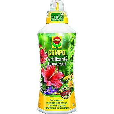 Compo Calidad para Plantas Ornamentales de Interior o terraza, Fertilizante líquido Universal con Extra de magnesio, 1000 ml, 1 l, 1434302011