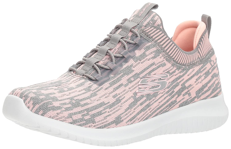 Skechers Women's Ultra Flex Bright Horizon Sneaker B074BY5ZZ8 9 B(M) US|Gray Coral