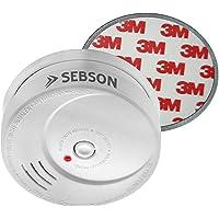 SEBSON 10 Jahres Rauchwarnmelder inkl. Magnethalterung, Din EN 14604 Zertifiziert,fotoelektrischer Rauchmelder, Brandmelder
