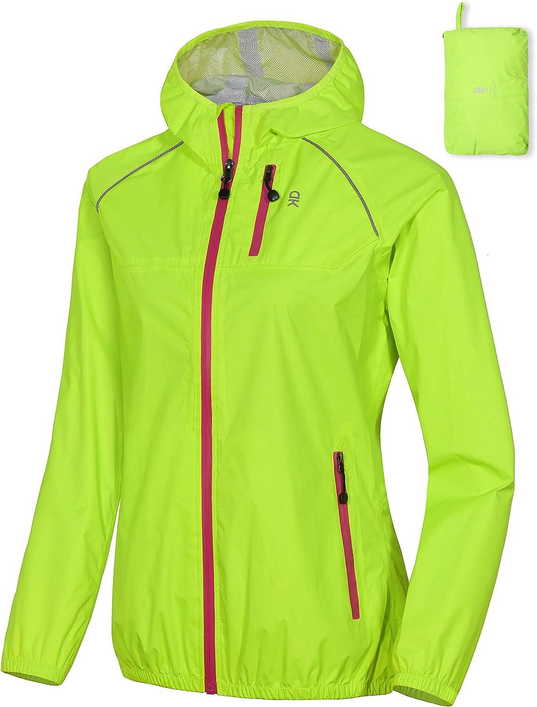 Little Donkey Andy Womens Lightweight Waterproof Cycling Running Rain Jacket Packable Windbreaker Fall Jacket