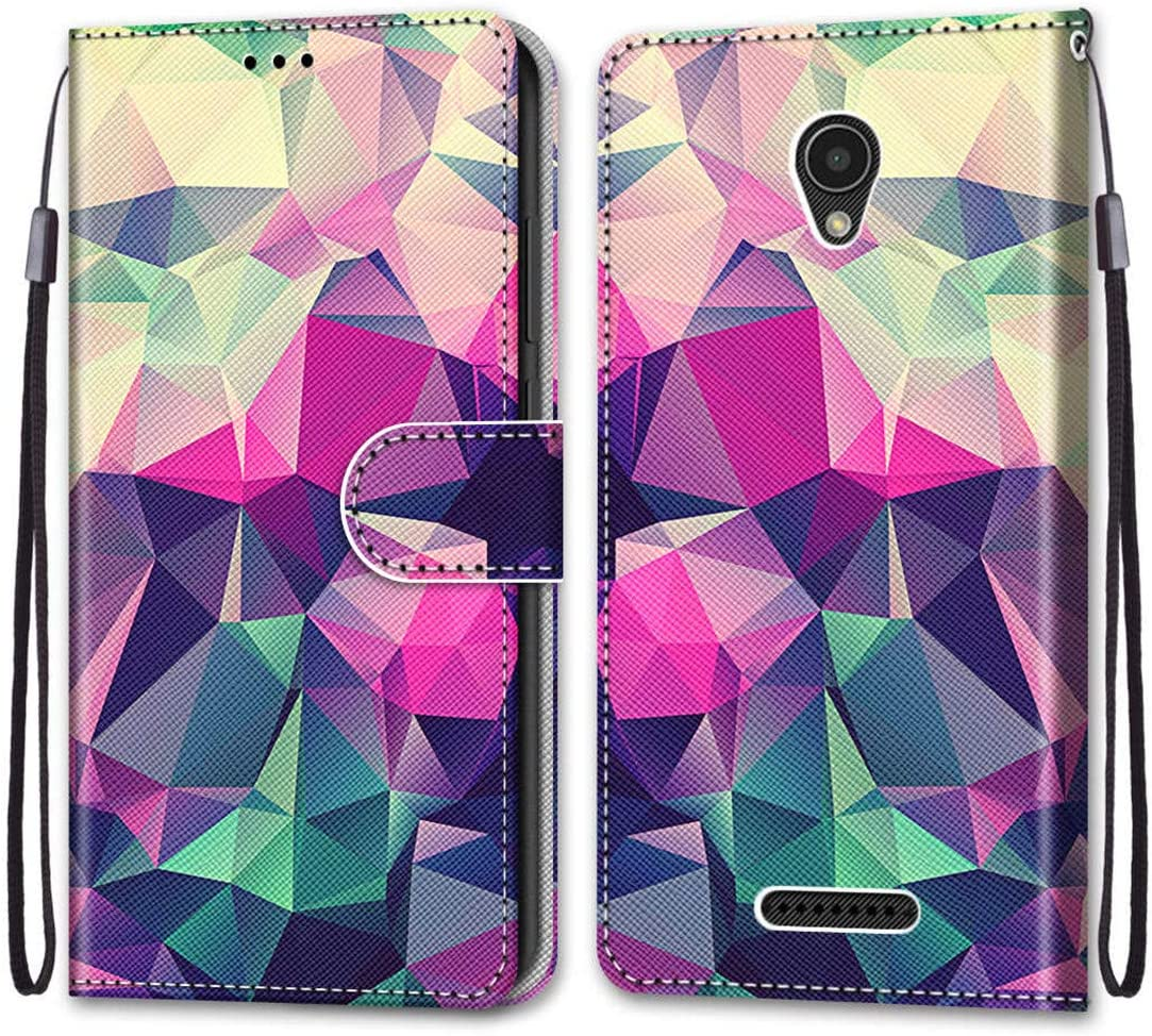 anzeal Lenovo A1010 Painted Wallet Case, [Wrist Strap] [Card Slots] PU Leather Painted Pattern Wallet Protection Case Magnetic Stand Flip Case Cover for Lenovo A Plus (A1010) Style-02