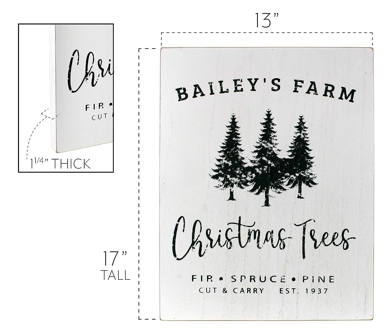 "Amazon.com: AuldHome Vintage Holiday Wall Art: ""Christmas Tree Farm ..."