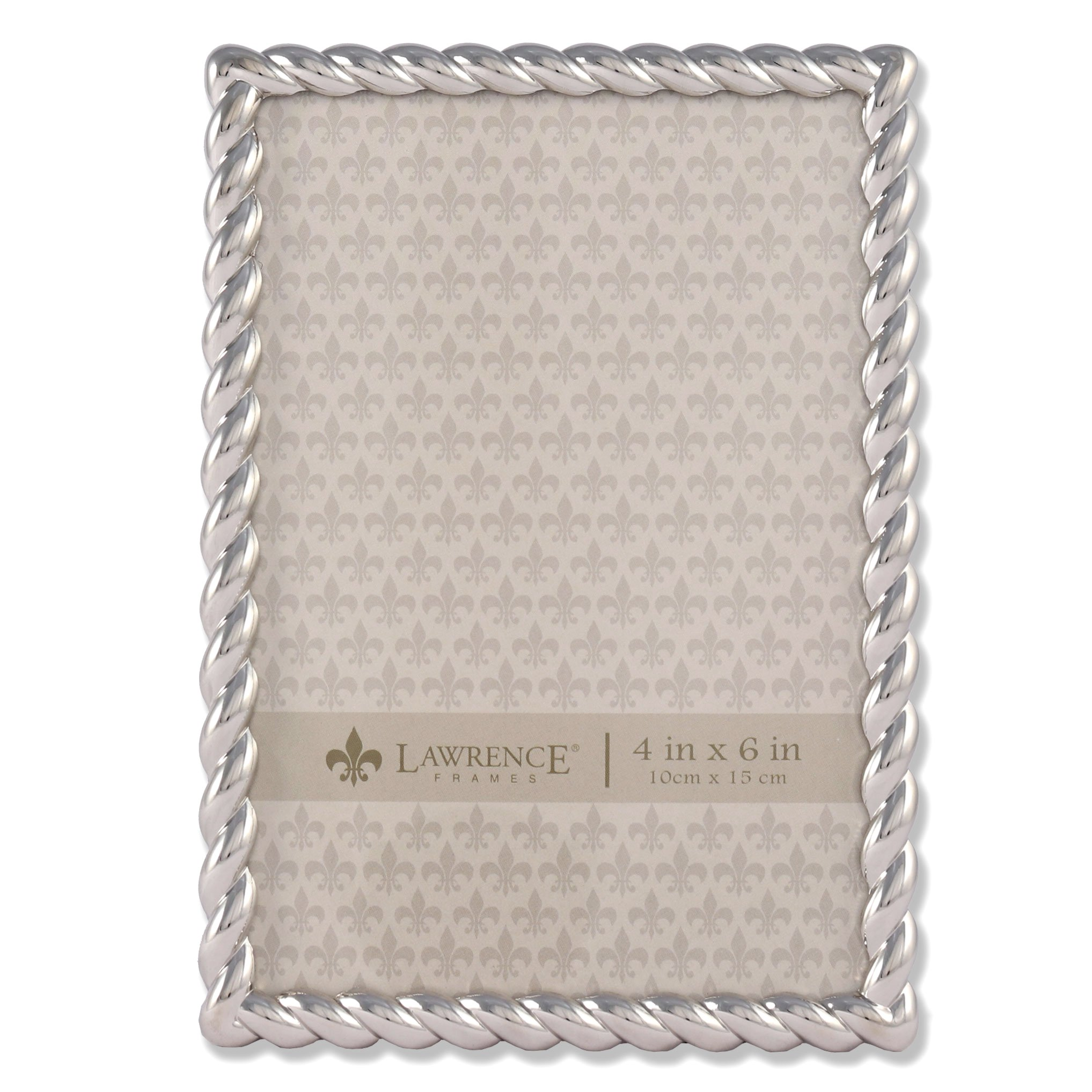 Lawrence Frames 710046 Silver Metal Rope Picture Frame, 4 by 6-Inch by Lawrence Frames