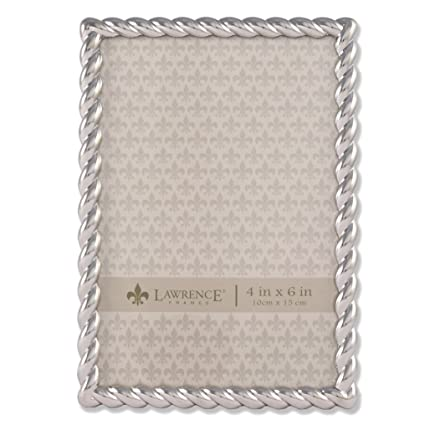 Lawrence Frames 710046 Silver Metal Rope Picture Frame  Inch