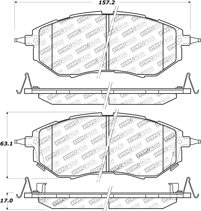 StopTech 936.51067 Street Axle Pack