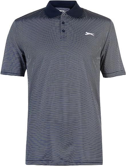 Slazenger - Polo - para Hombre Azul White/Stripe - S: Amazon.es ...