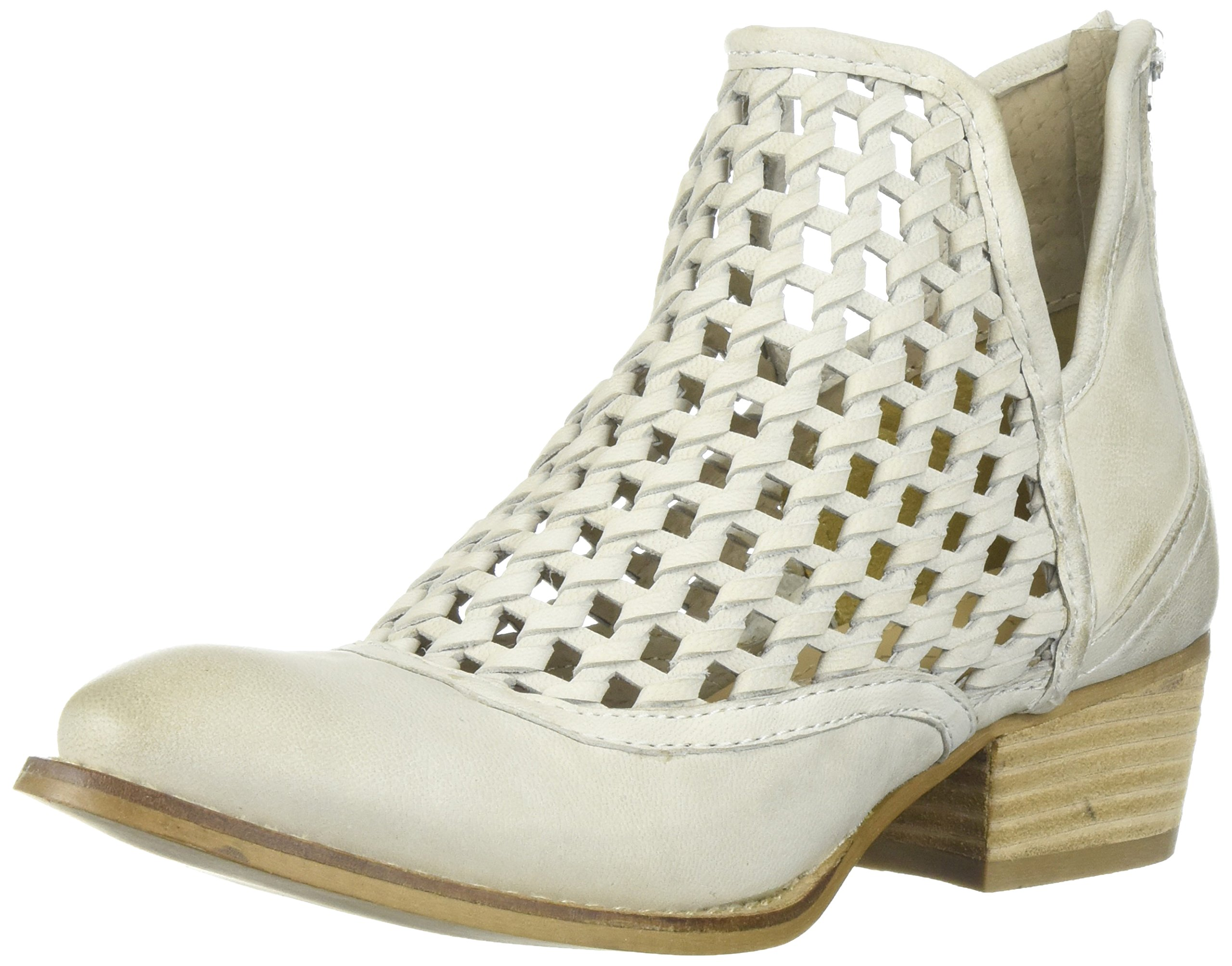 Very Volatile Women's Hudsun Ankle Boot, Off White, 6.5 B US