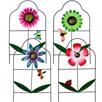 Amazon Com Gift Boutique Decorative Painted Metal Garden Fence 4