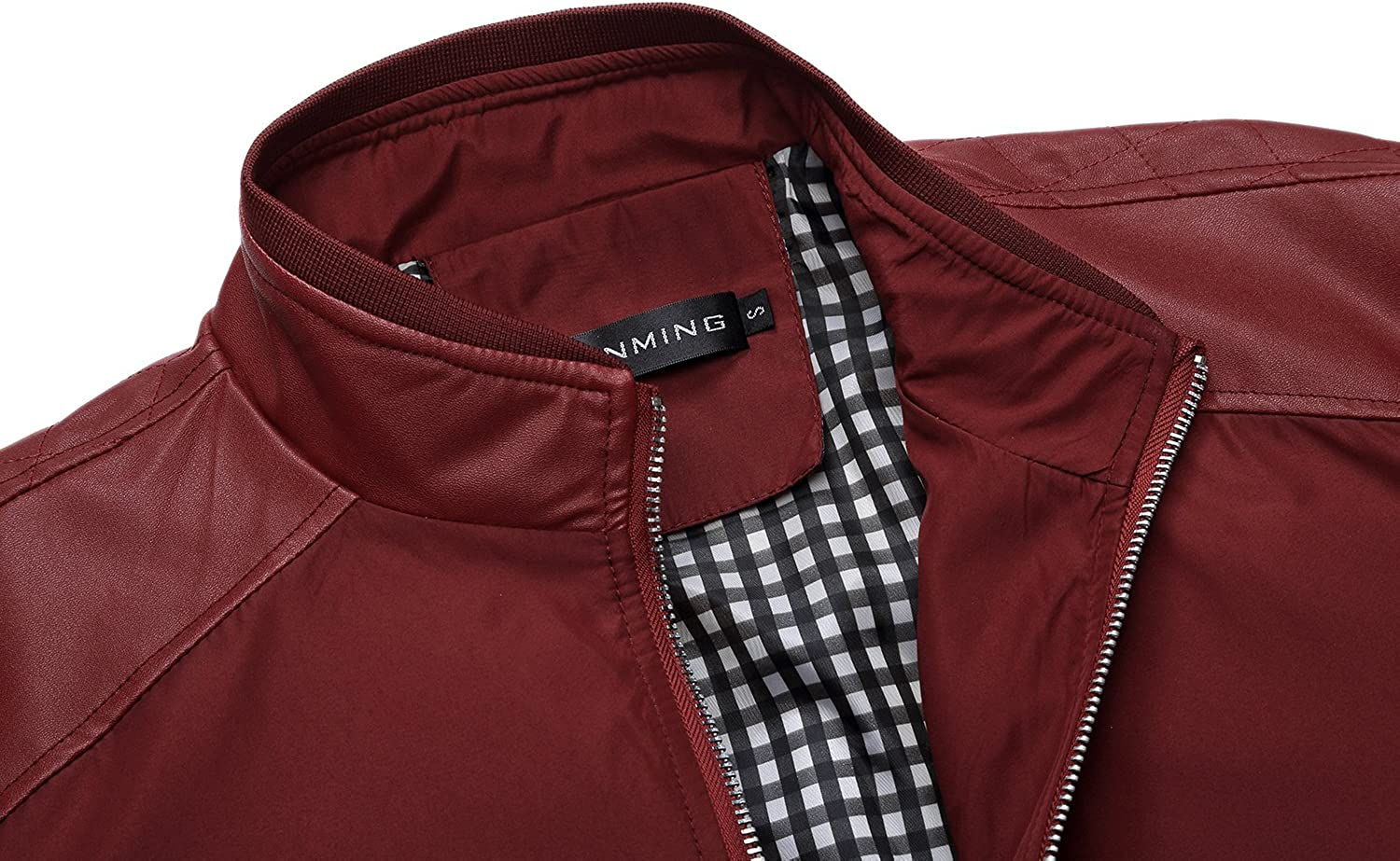Tanming Men's Color Block Slim Casual Thin Lightweight Bomber Jacket at  Men's Clothing store