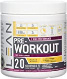 LEAN Nutrition Pre Workout Powder With Creatine - Pre Workout Drink Powder For Energy Endurance - 300g Red Berry