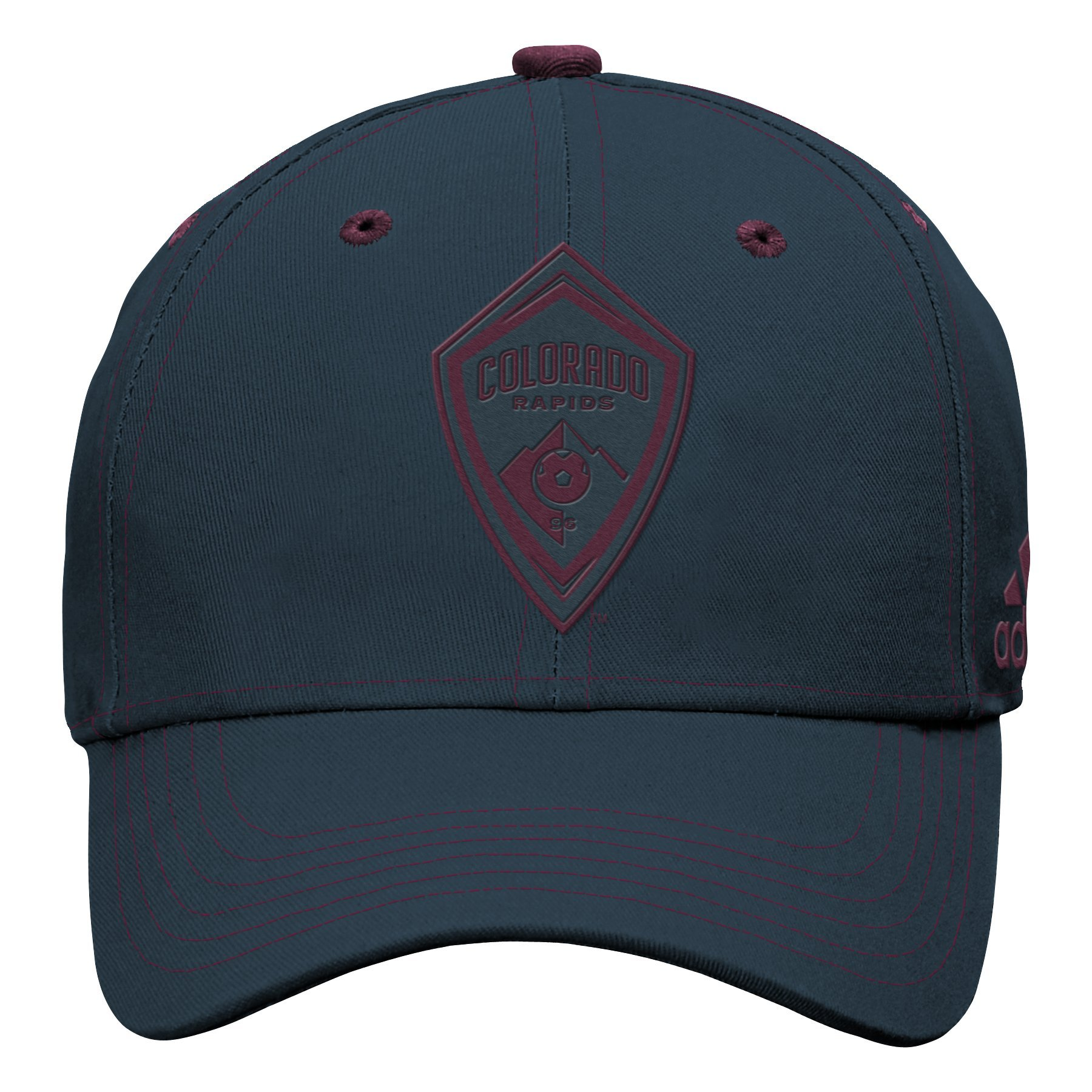 Outerstuff MLS Colorado Rapids Boys Tonal Logo Structured Adjustable Hat, Dark Onix, One Size (8)