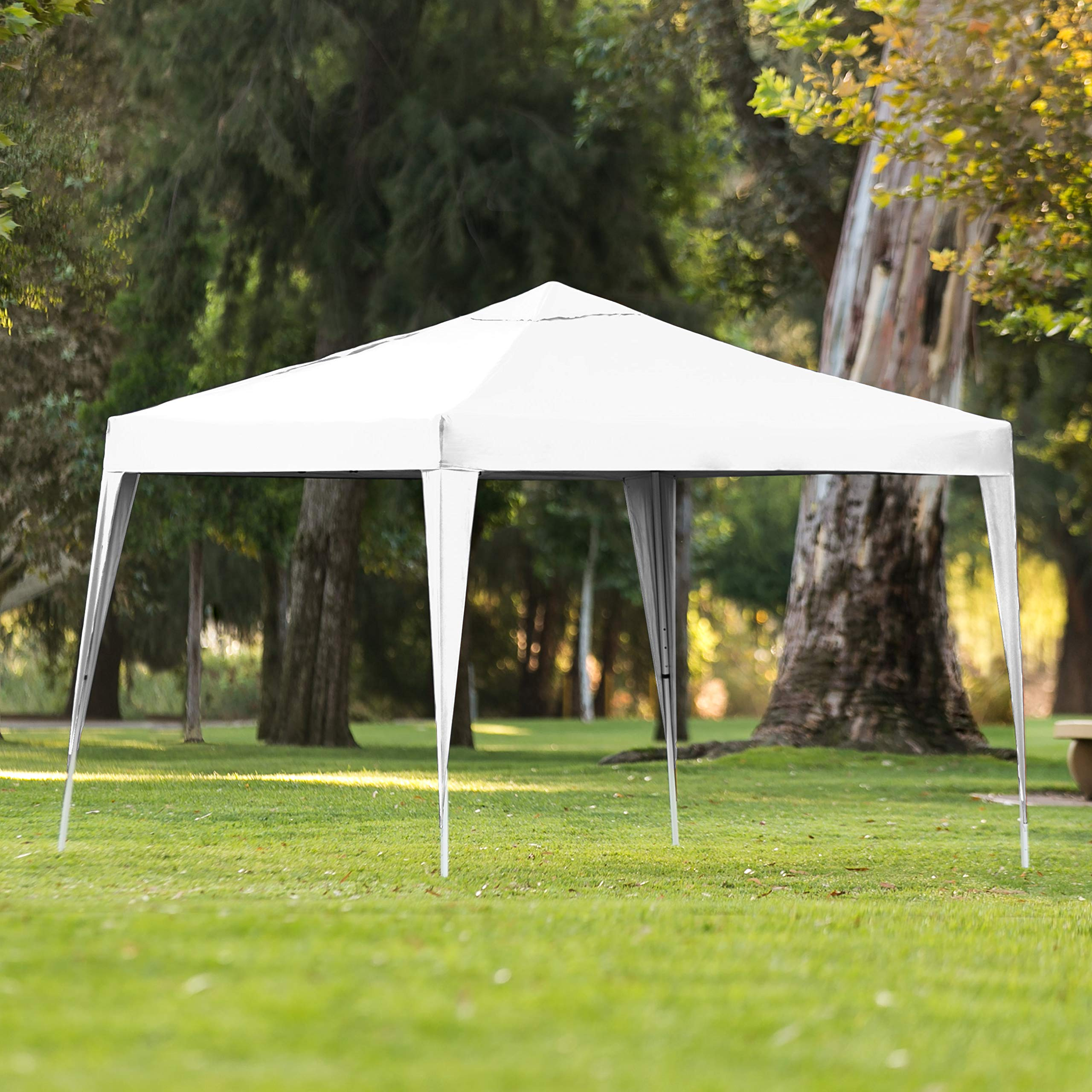 Best Choice Products 10x10ft Outdoor Portable Adjustable Instant Pop Up Gazebo Canopy Tent w/Carrying Bag White