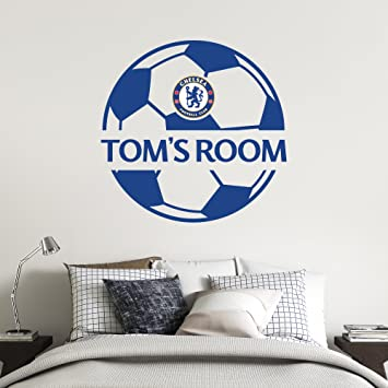 Everton Football Club Personalised Name /& Ball Design Wall Mural Sticker Bedroom