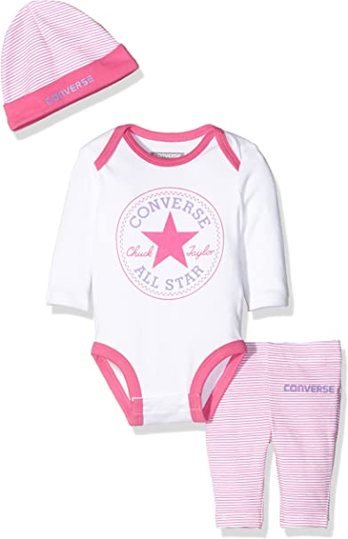 Converse Baby Girls' Creeper Clothing Set