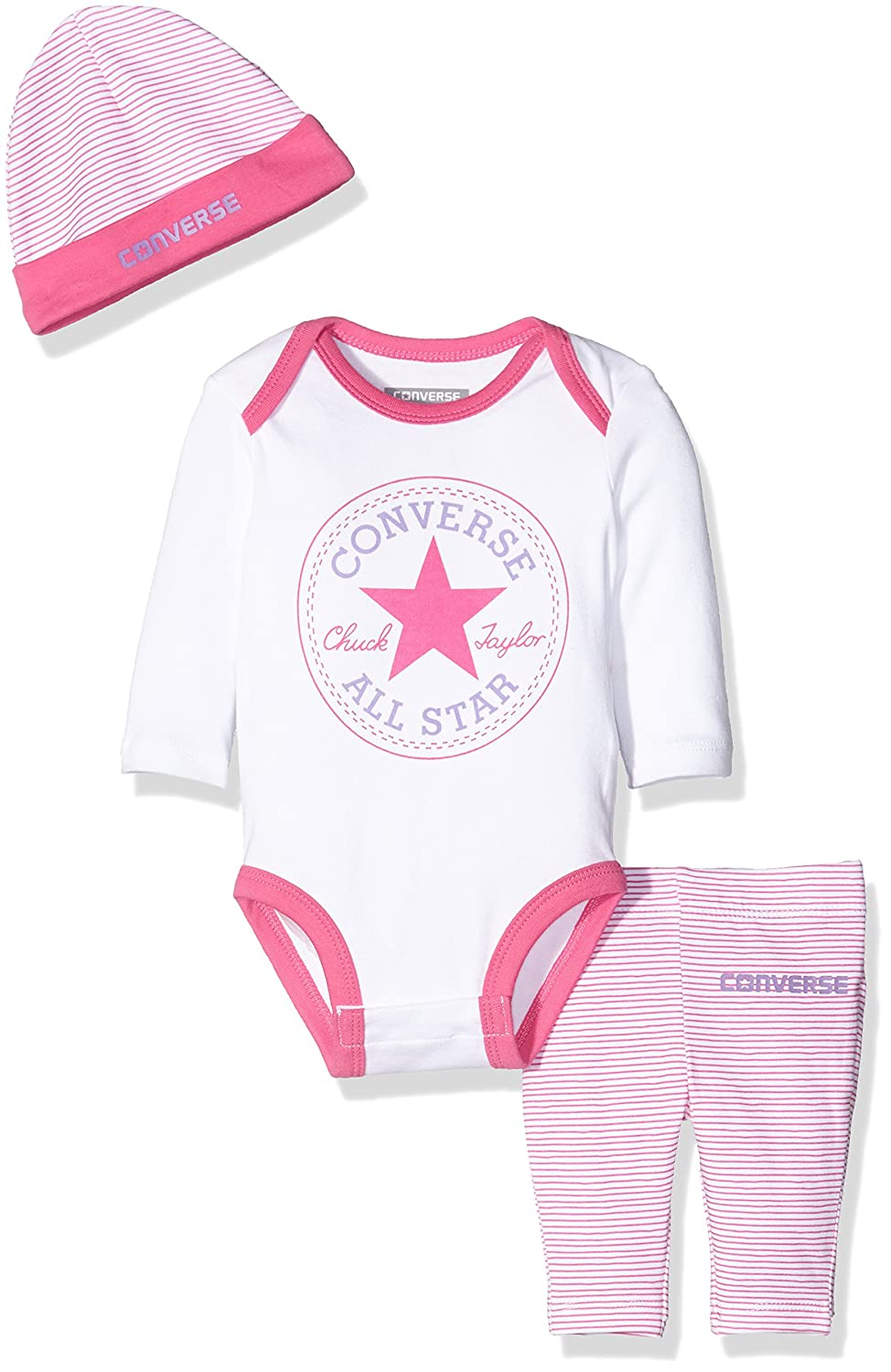 db2f86c4f88c Converse Baby Girls  Creeper Clothing Set  Amazon.co.uk  Clothing