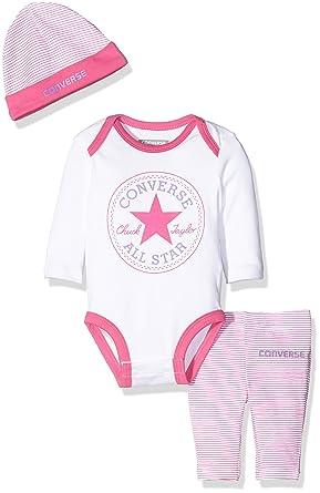 c1dff0fb8849 Converse Baby Girls  Creeper Clothing Set  Amazon.co.uk  Clothing