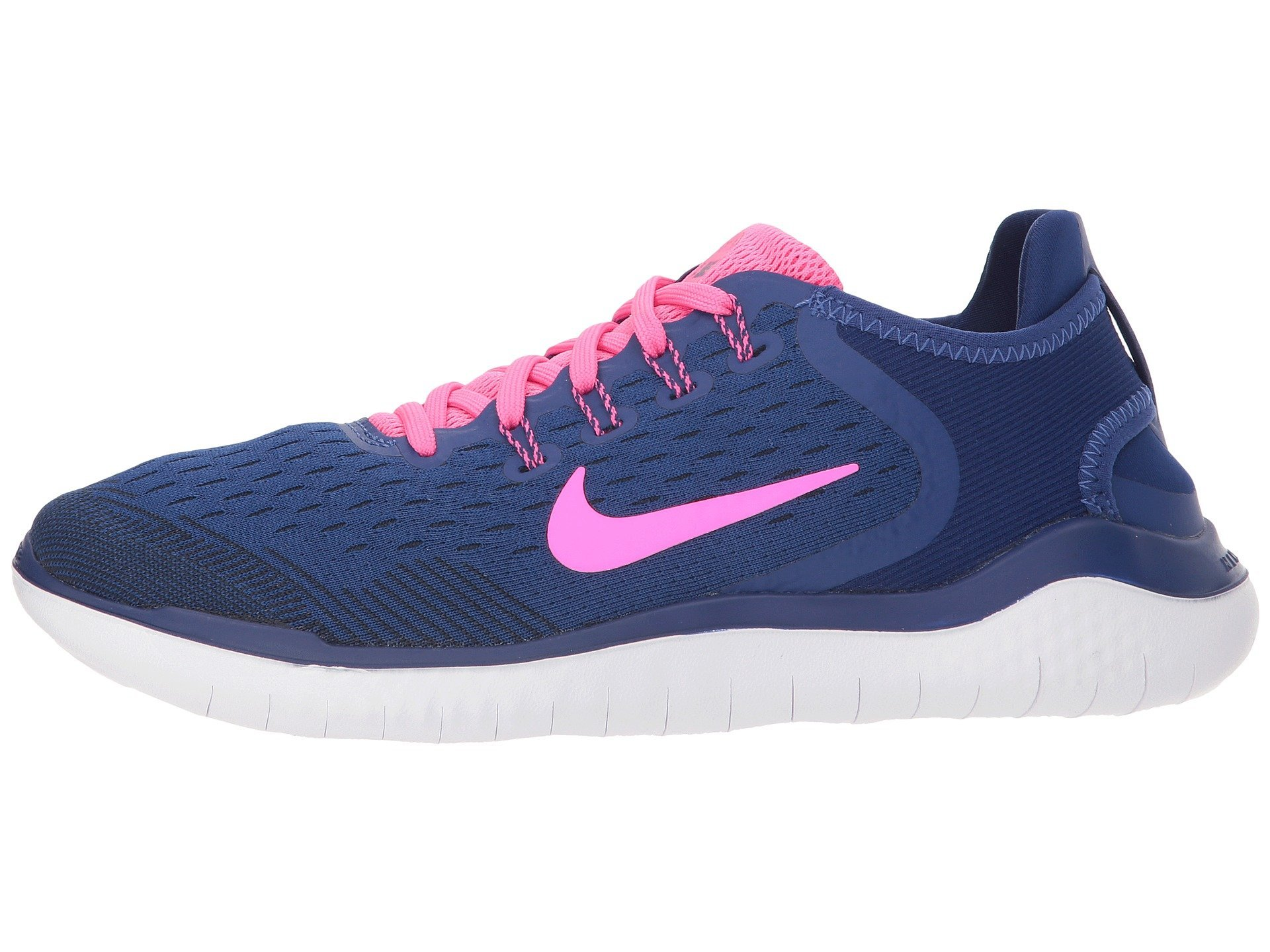 a33742937ca99 Galleon - Nike Women s Free RN 2018 Running Shoe Deep Royal Blue Pink  Blast Obsidian Size 7.5 M US