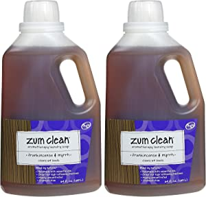 Zum Clean Laundry Soap, Frankincense & Myrrh, 64 oz-2 pack