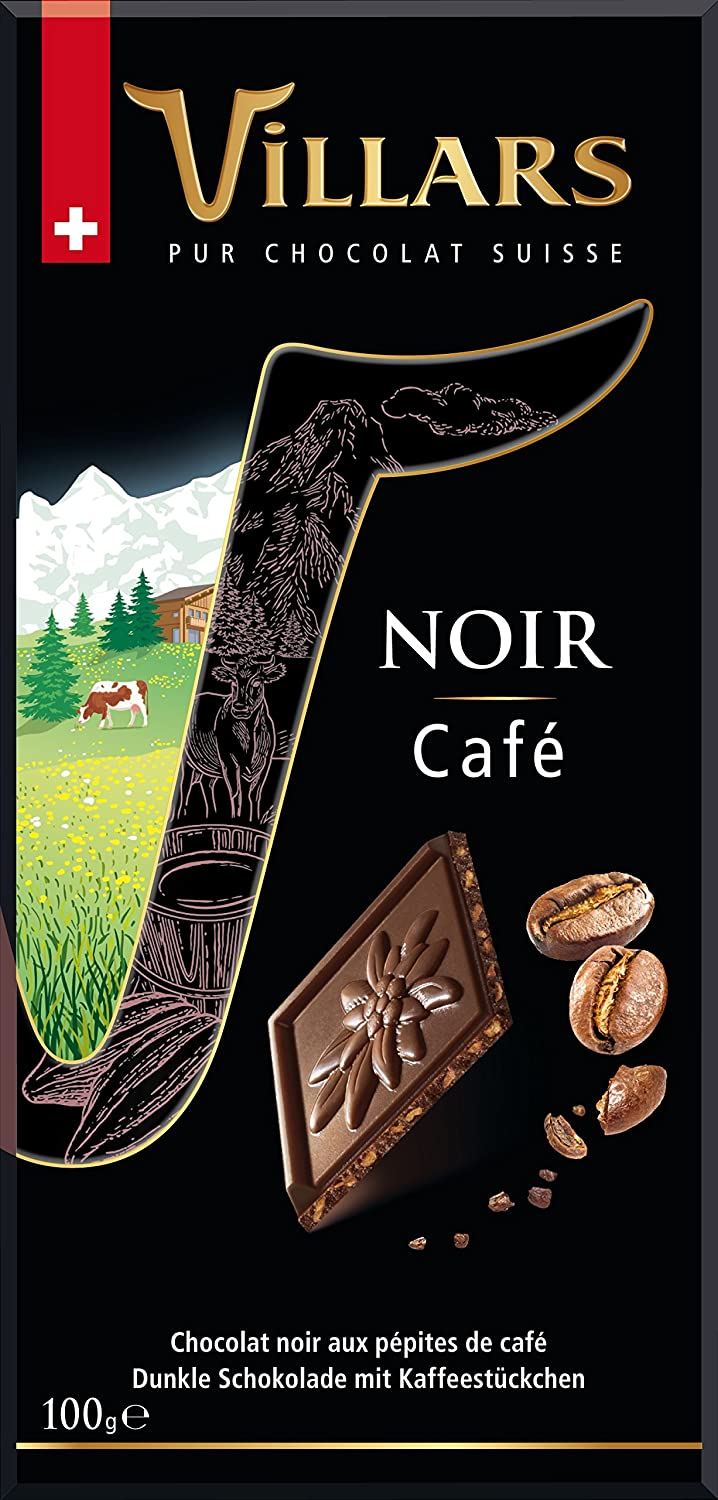 Amazon.com : Villars - Dark & Coffee Chocolate Bar - 100g : Grocery & Gourmet Food