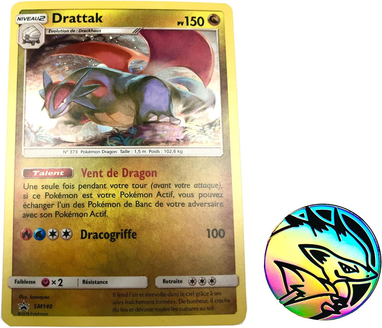 1 Jeton Pokemon Offert Carte DRATTAK Holo-Rare 150 PV SM140