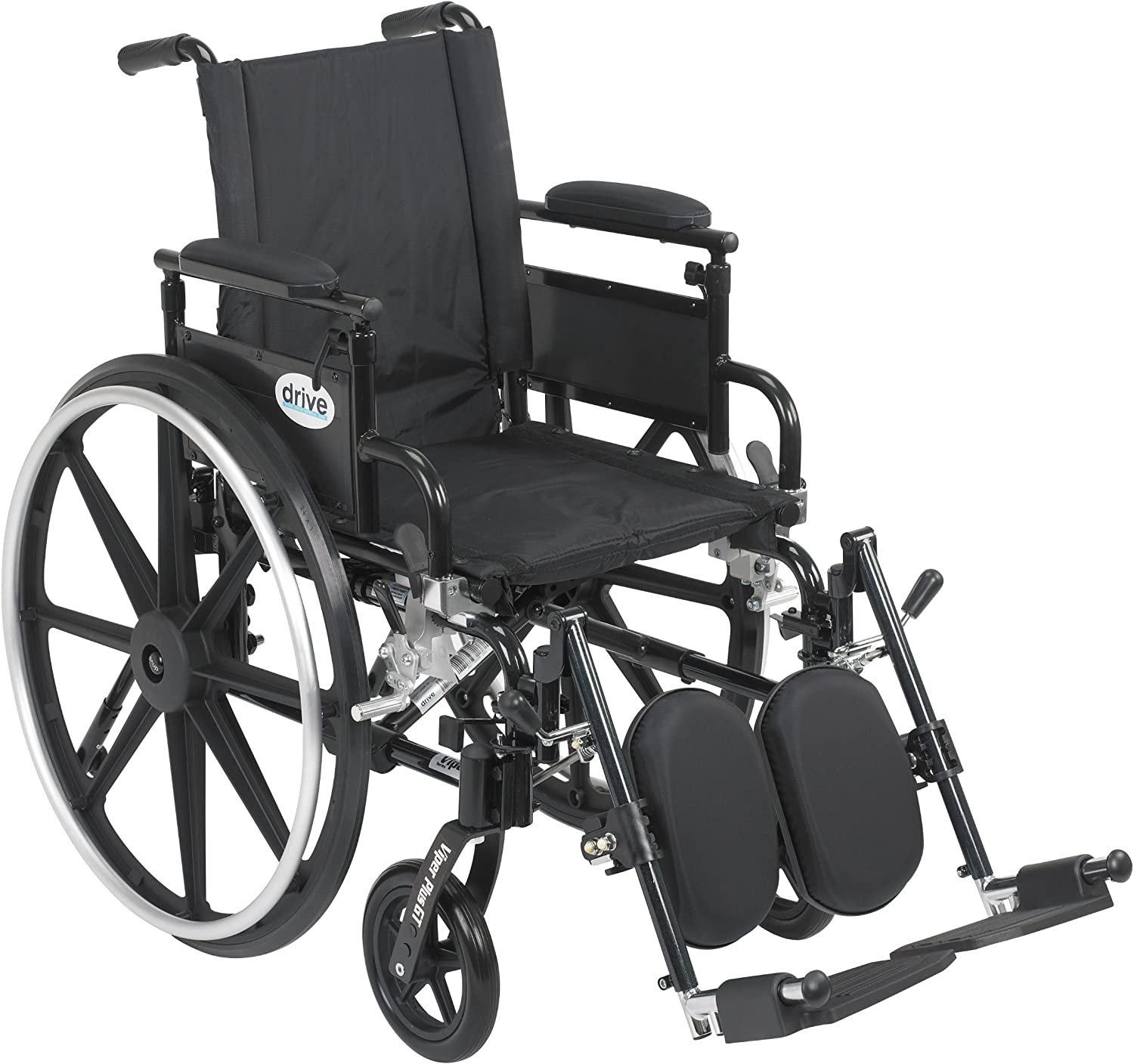 "Drive Medical Viper Plus GT Wheelchair with Flip Back Removable Adjustable Desk Arms, Elevating Leg Rests, 16"" Seat 815wwH3OB-LSL1500_"