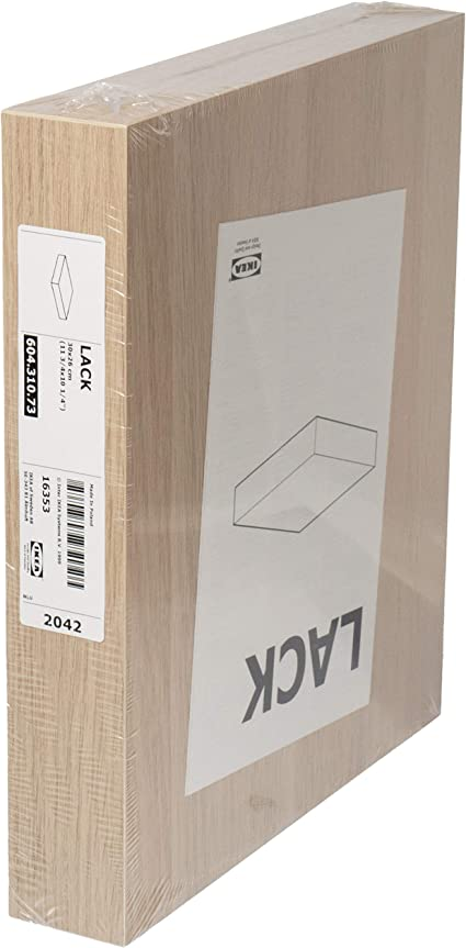 Ikea LACK Estantería flotante de pared, efecto roble manchado blanco, 30 x 26 cm, 604.310.73