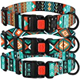 "CollarDirect Nylon Dog Collar with Buckle Tribal Pattern Puppy Adjustable Collars for Dogs Small Medium Large (Pattern 3, Neck Fit 18""-26"")"