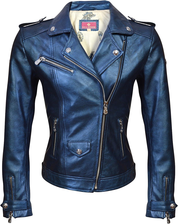 RICA Little Girls Biker Jacket Metallic Lamb Leather